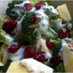 Broccoli Salad with Apples and Cranberries